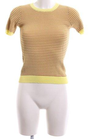 Zara Knit Short Sleeve Sweater bronze-colored-primrose spot pattern casual look