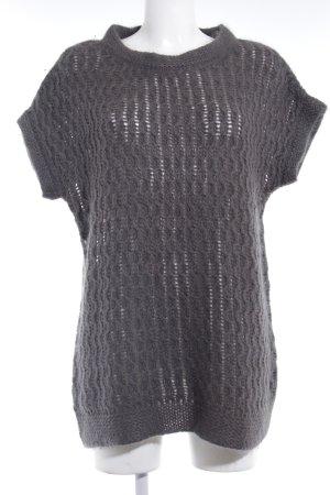 Zara Knit Sweater met korte mouwen antraciet simpele stijl