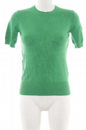 Zara Knit Short Sleeve Sweater green business style