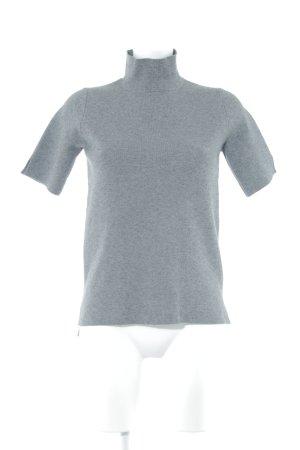 Zara Knit Sweater met korte mouwen grijs casual uitstraling