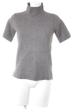 Zara Knit Pull à manches courtes gris style décontracté
