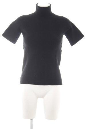 Zara Knit Jersey de manga corta negro look casual