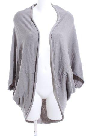 Zara Knit Gebreid jack met korte mouwen lichtgrijs casual uitstraling