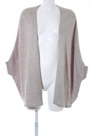 Zara Knit Gebreid jack met korte mouwen licht beige simpele stijl