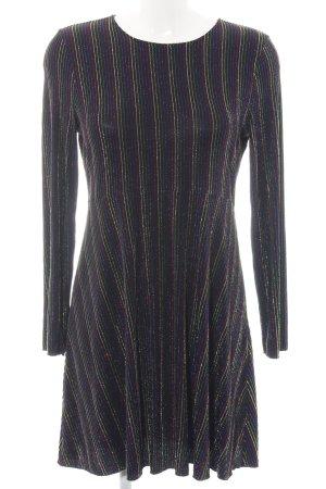 Zara Knit Langarmkleid Streifenmuster extravaganter Stil