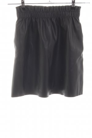 Zara Knit Leather Skirt black casual look