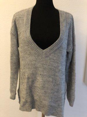 Zara Knit Maglione lungo grigio chiaro