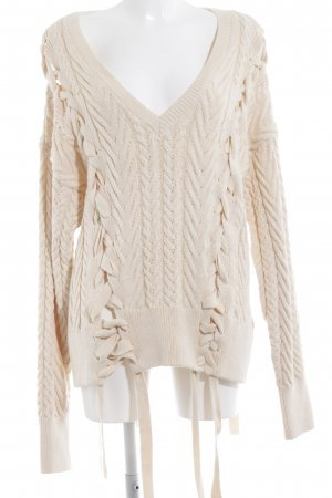 Zara Knit Longpullover creme Casual-Look