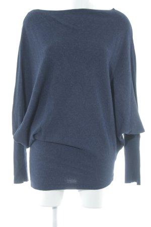 Zara Knit Long Sweater dark blue casual look