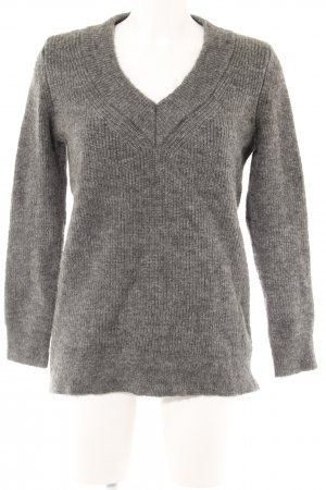 Zara Knit Longpullover dunkelgrau Street-Fashion-Look