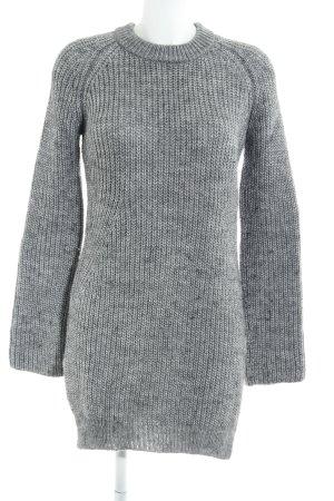 Zara Knit Jersey largo gris moteado look casual