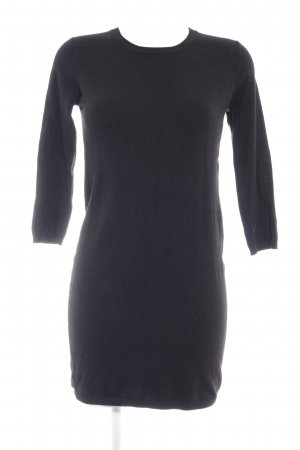 Zara Knit Jersey largo negro look casual