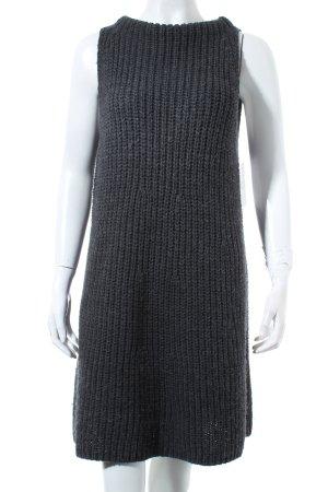 Zara Knit Longpullunder dunkelgrau Street-Fashion-Look