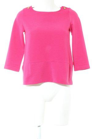 Zara Knit Longshirt pink Casual-Look