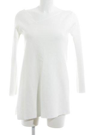 Zara Knit Longshirt wollweiß Elegant