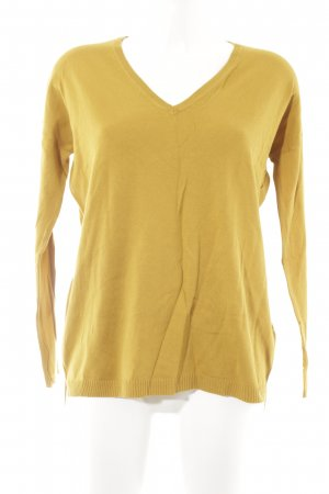 Zara Knit Longsleeve goldorange Casual-Look