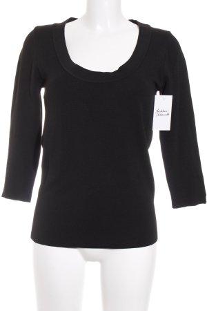 Zara Knit Longsleeve schwarz klassischer Stil