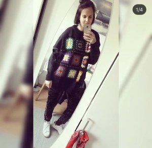 Zara Knit M Pulli Blanket Teppich Strick Hippie Boho Flicken