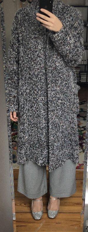 Zara Knit Mantel - mit Glitzer - Gr M