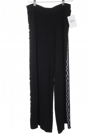 Zara Knit Marlene Trousers black-white Gypsy style