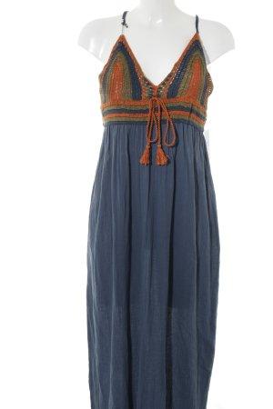 Zara Knit Maxikleid mehrfarbig Boho-Look