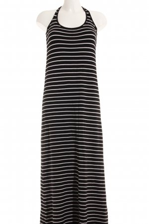 Zara Knit Maxikleid schwarz-weiß Streifenmuster Casual-Look