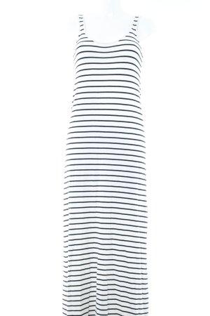 Zara Knit Maxikleid schwarz-wollweiß Streifenmuster Casual-Look