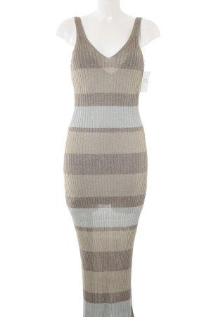 Zara Knit Maxi abito motivo a righe stile casual