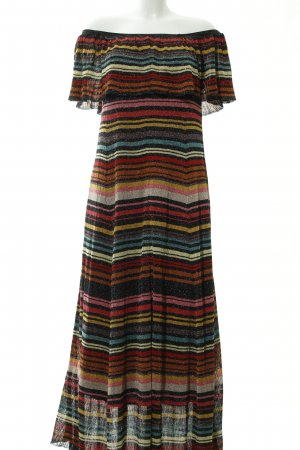 Zara Knit Maxikleid Streifenmuster Glitzer-Optik