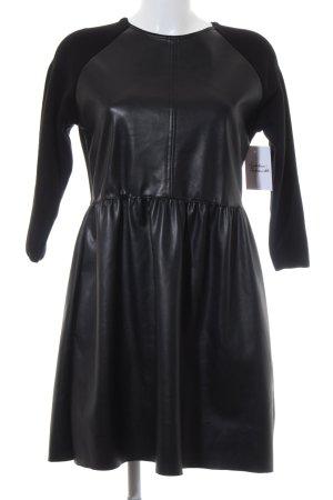 Zara Knit Midikleid schwarz klassischer Stil