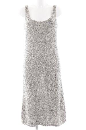 Zara Knit Robe mi-longue blanc cassé-noir style décontracté