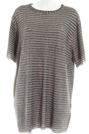 Zara Knit Minikleid altrosa-silberfarben Party-Look