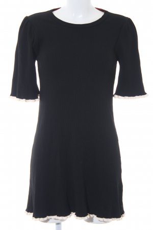 Zara Knit Minikleid schwarz-weiß Casual-Look