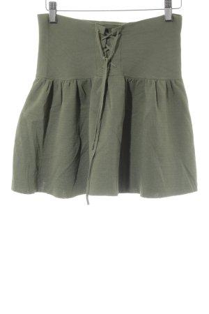 Zara Knit Minirock hellgrün Casual-Look