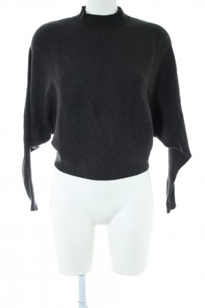 Zara Knit Oversized Sweater black casual look