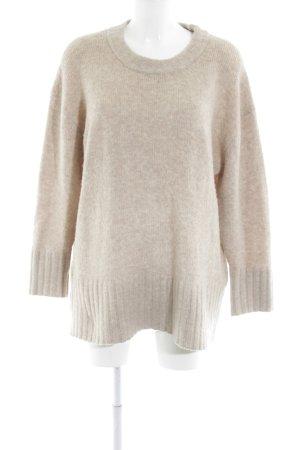 Zara Knit Oversized Pullover beige schlichter Stil