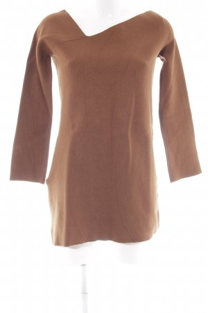 Zara Knit Oversized Pullover cognac Casual-Look
