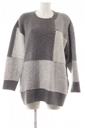 Zara Knit Jersey holgados bloques de color look casual