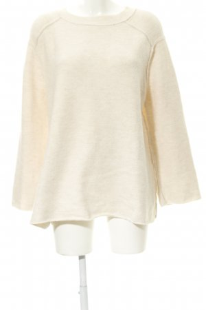 Zara Knit Oversized Sweater cream casual look