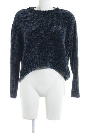 Zara Knit Oversized Pullover dunkelblau Casual-Look