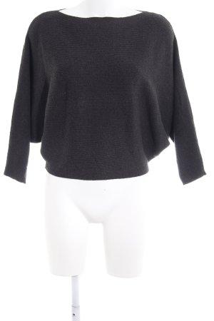 Zara Knit Oversized Pullover dunkelgrau-schwarz schlichter Stil