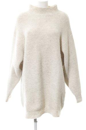 Zara Knit Oversized trui licht beige casual uitstraling