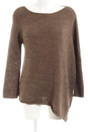 Zara Knit Oversized Pullover hellbraun Street-Fashion-Look