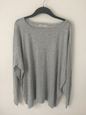 Zara Knit oversized Pullover Hellgrau