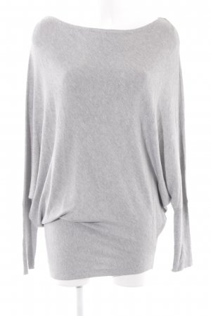 Zara Knit Oversized Pullover hellgrau Casual-Look