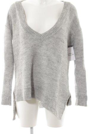 Zara Knit Oversized Pullover hellgrau Kuschel-Optik