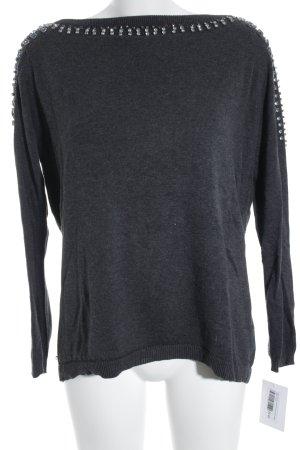 Zara Knit Oversized Pullover mehrfarbig Glitzer-Optik