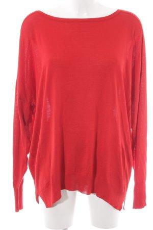 Zara Knit Pull oversize rouge style décontracté