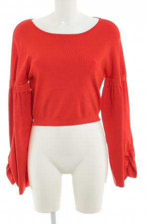 Zara Knit Oversized Sweater red casual look