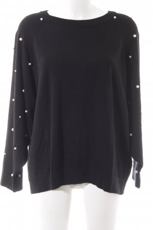 Zara Knit Oversized Pullover schwarz Casual-Look